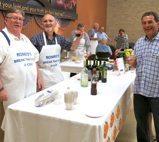 ROMEOs pasta fundraiser 2017 cheers